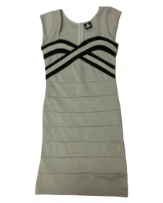 Sweetheart Bodycon Dress - Grey