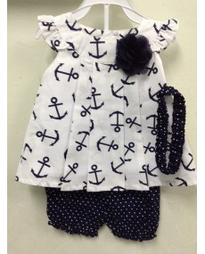 Anchor Prints Blouse and Shorts